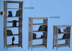 Pine Bookcases By Archbold 12 Deep 24 48 Wide 30 7 Feet High Shaker Styles Unfinished Factory Or Custom Finishing